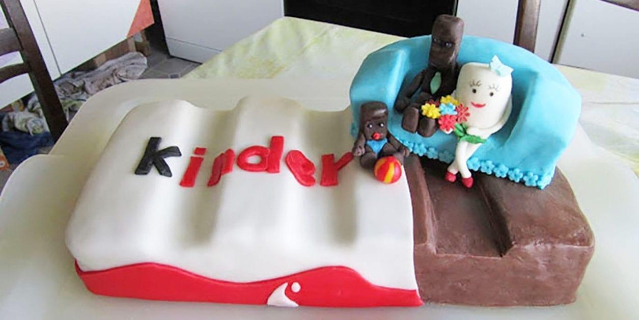 Außergewöhnlich Kinderriegel Torte Ohne Backen Foto Von Riesen Kinder-riegel-torte