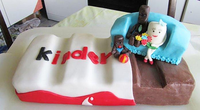 Riesen Kinder-Riegel-Torte