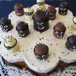 "Mohrenkopf-Torte ""Minions"""