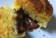 Vanillemuffins mit Nutellafüllung und Zucker-Zimt-Kruste Titel