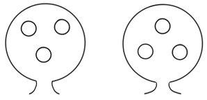 links: gesichtsähnlicher Reiz rechts: Kontrollreiz