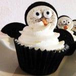 Pinguin-Cupcakes mit Oreos