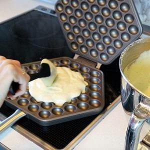 egg-waffle-eisen benutzen