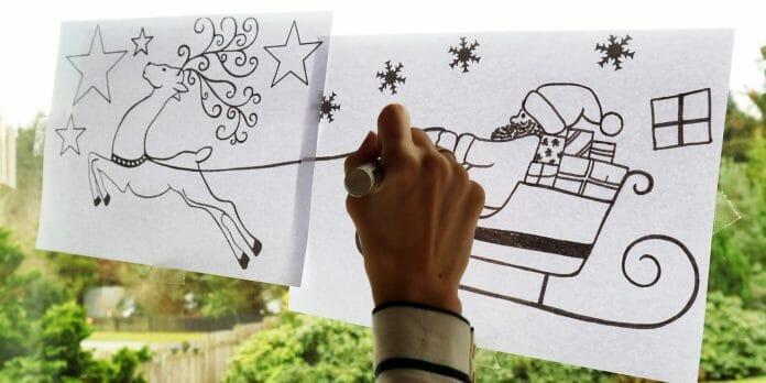 fensterbilder f r weihnachten mit kostenlosen vorlagen. Black Bedroom Furniture Sets. Home Design Ideas