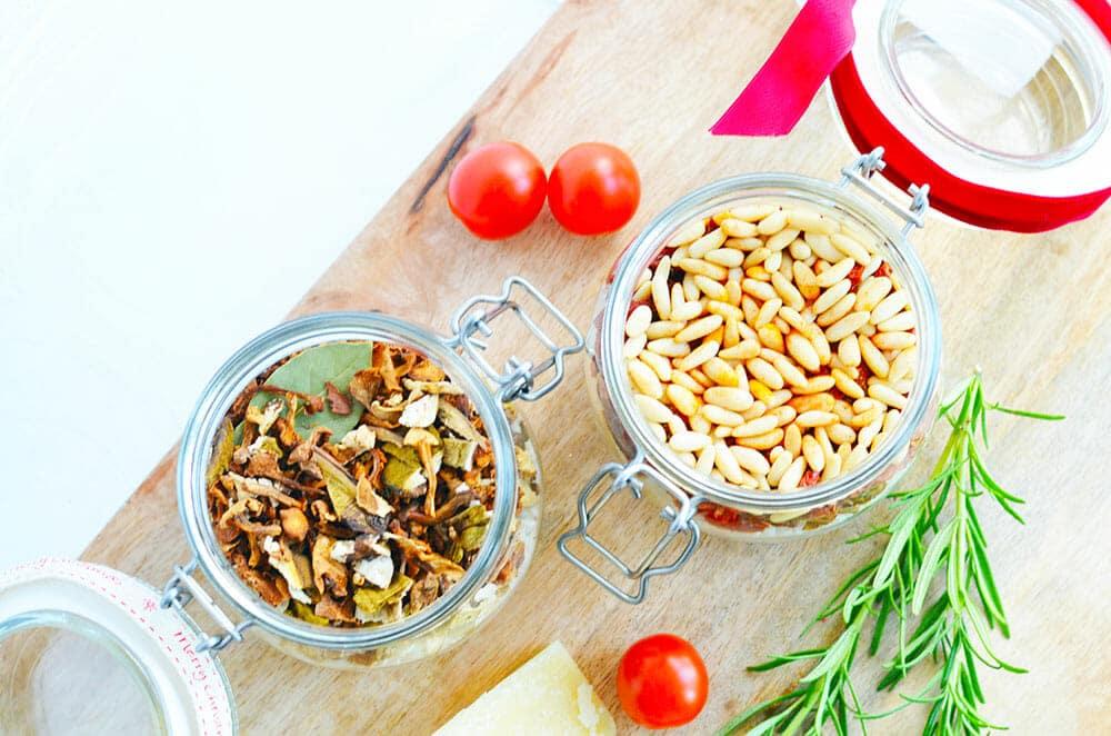 risotto im glas mit Pilzen