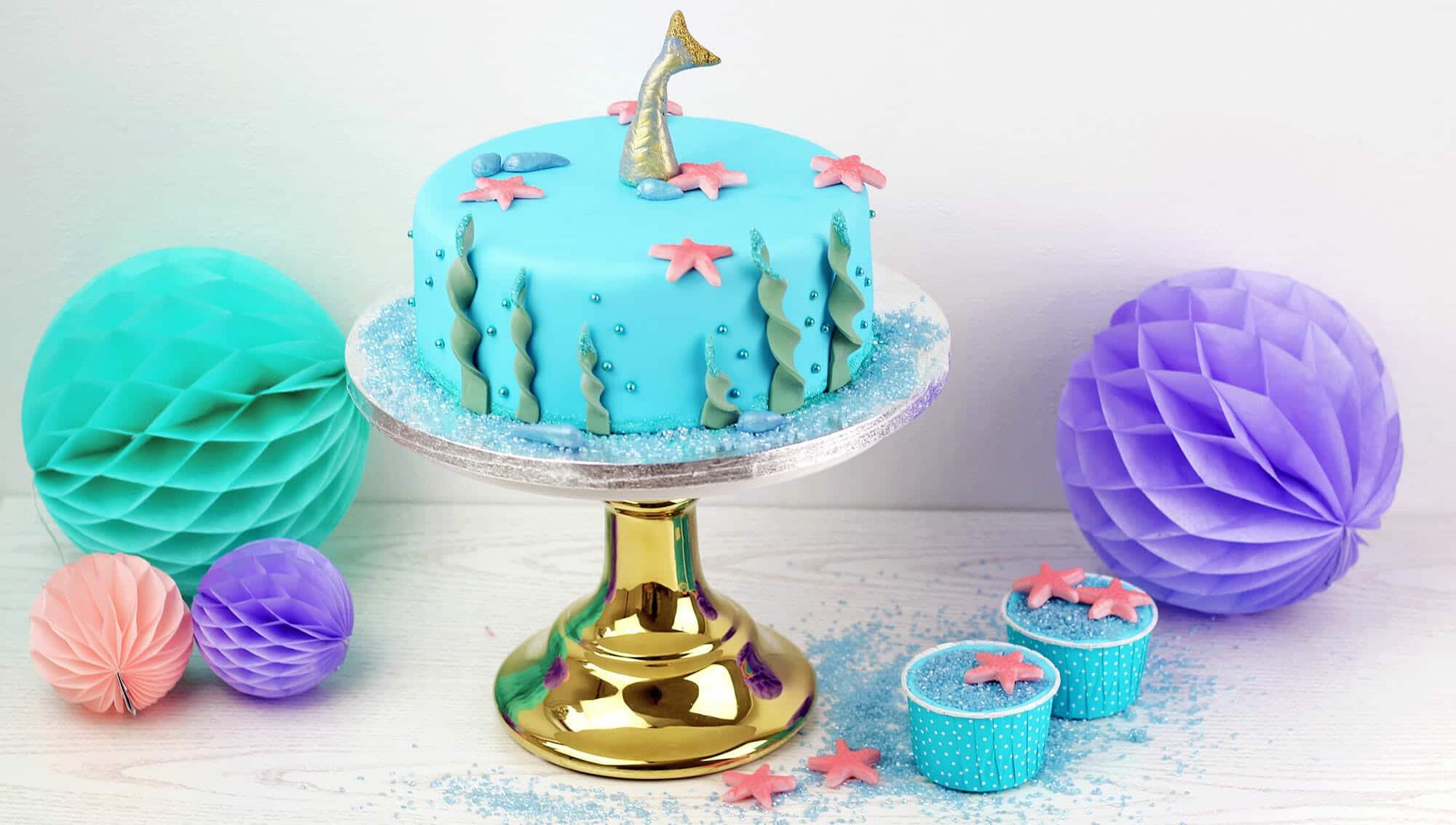 meerjungfrauen geburtstag torte