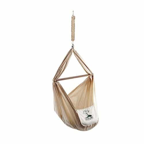 NONOMO Federwiege | Hängewiege | Babyhängematte | 0-15 Kg, Bio-Baumwolle