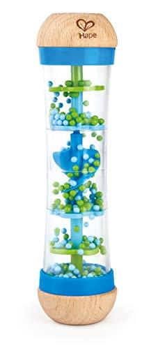 Hape E0328 - Blauer Regenmacher, Musikspielzeug, ab 0 Monaten