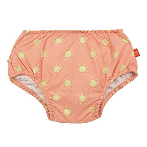 LÄSSIG Baby Schwimmwindel Badewindel wiederverwendbar waschbar Auslaufschutz Junge Mädchen UV-Schutz 50+/Splash & Fun Baby Swim Diaper, Sun, 6 Monate, orange