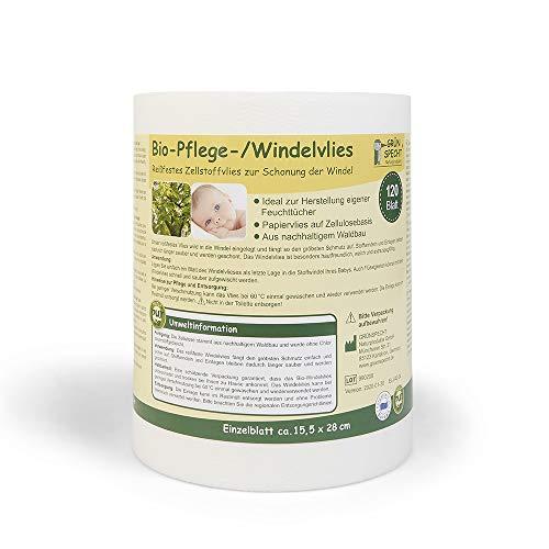 Grünspecht 676-00 Bio-Windelvlies 120 Blatt, weiß