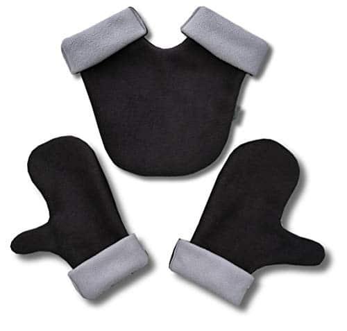 Partnerhandschuhe aus Doppelfleece - in Deutschland hergestellt - Anthrazit/Grau