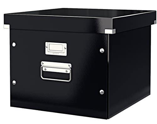 Leitz, Ablage- und Transportbox für Hängeregistratur, Schwarz, Mit Deckel, A4, Click & Store, 60460095