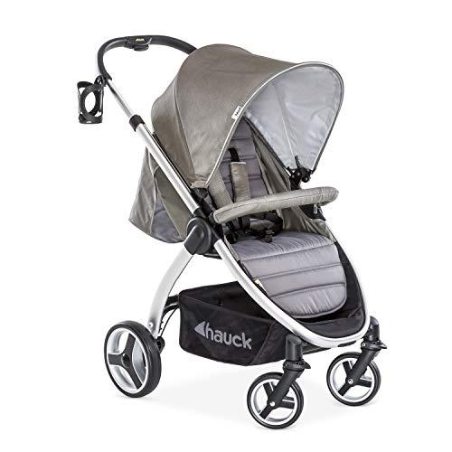 Hauck Buggy Lift Up 4/ mit Liegefunktion, klein zusammenklappbar / für Kinder ab Geburt bis 25 kg, charcoal (silber)