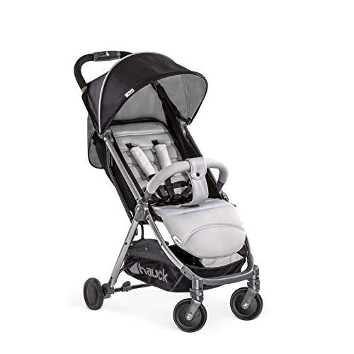 Hauck Buggy Swift Plus / mit Liegefunktion, klein zusammenklappbar / für Kinder ab 6 Monate bis 15 kg, Silver Charcoal (Silber)