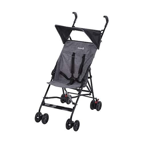 Safety 1st Peps Buggy mit Sonnenverdeck, wendiger Kinderwagen nutzbar ab 6 Monate bis max. 15 kg, kompakt zusammenfaltbar, mit Feststellbremse und 5-Punkt-Gurt, wiegt nur 4,5 kg, black chic