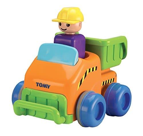 TOMY Flinker Laster | Spielzeug für Kleinkinder | Autofahrzeug für Kinder ab 12 Monate | Spielzeug Trecker zum Schieben & mit Selbstfahrfunktion aus Kunststoff | Ideal als Geschenk