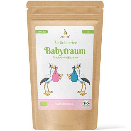 JoviTea Babytraum Tee BIO – Traditionelle Rezeptur - spezielle Kräutermischung – aus kontrolliert biologischem Anbau. 100% natürlich und ohne Zusatz von Zucker - 75g