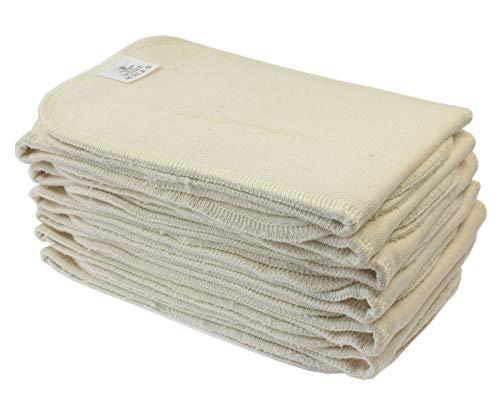 Blümchen Stoffwindel Saugeinlagen 12 Stück BioBaumwolle