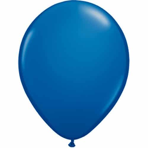 50 x Luftballons Ø 25 cm | Freie Farbauswahl | 17 Ballon Farben | partydiscount24® (Blau)