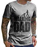 Stylotex Herren T-Shirt Basic The Walking dad , Farbe:heather;Größe:L