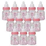 12 Stk. Kleine Befüllbare Flasche Candy Baby Dusche Begünstigt (Rosa)
