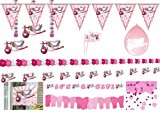 Partyset 00231 Partydekoration Baby Party Taufe M�dchen rosa
