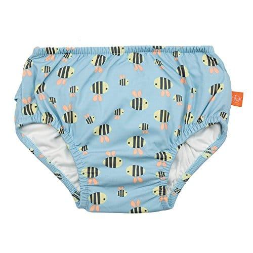 LÄSSIG Baby Schwimmwindel Badewindel wiederverwendbar waschbar Auslaufschutz UV-Schutz/Splash & Fun Baby Swim Diaper, Bumble Bee, 18 Monate