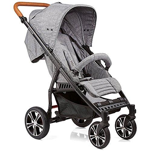 Gesslein S4 304110545000 Kinderwagen Air+ inklusiv Ledergriff, grau