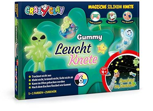 CrazyClay Gummy Leucht-Set Backknete