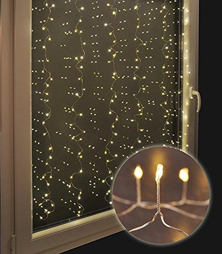 Lichtervorhang mit 240 LED Mini - LEDs auf Kupferdraht