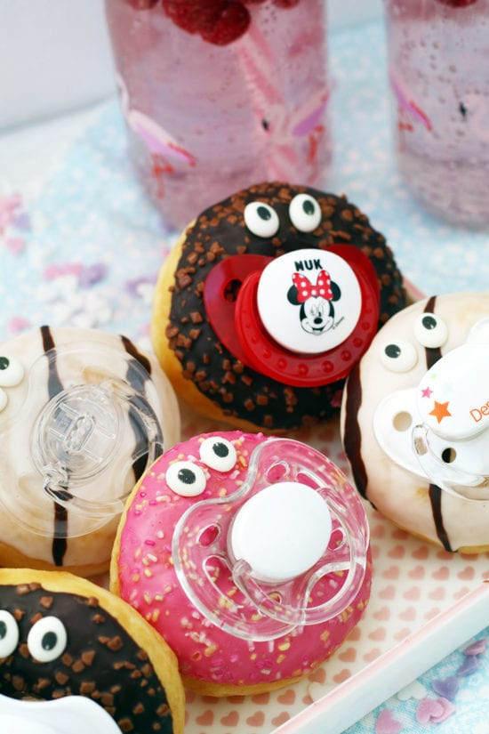 babyparty essen donuts