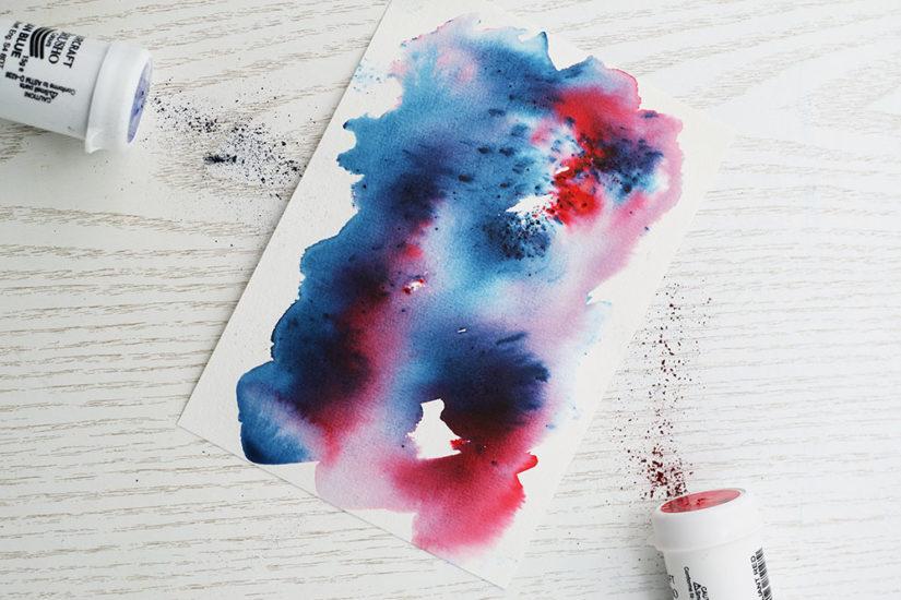 brusho rot blau
