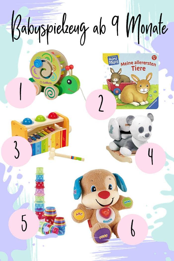 Die besten Babyspielzeuge ab 9, 10 und 11 Monate