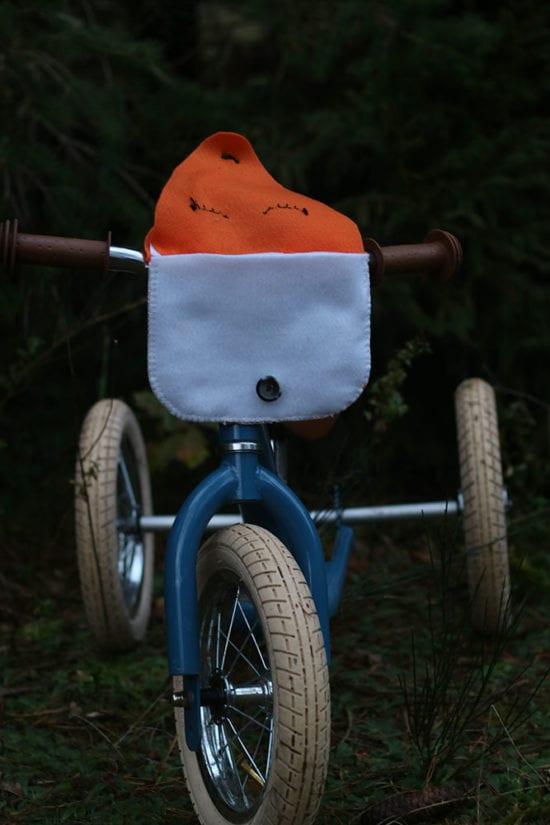 Fahrradtasche Fuchs offen