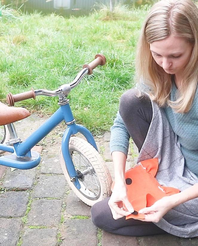 Fahrradtasche Nähanleitung Klett anbringen 2