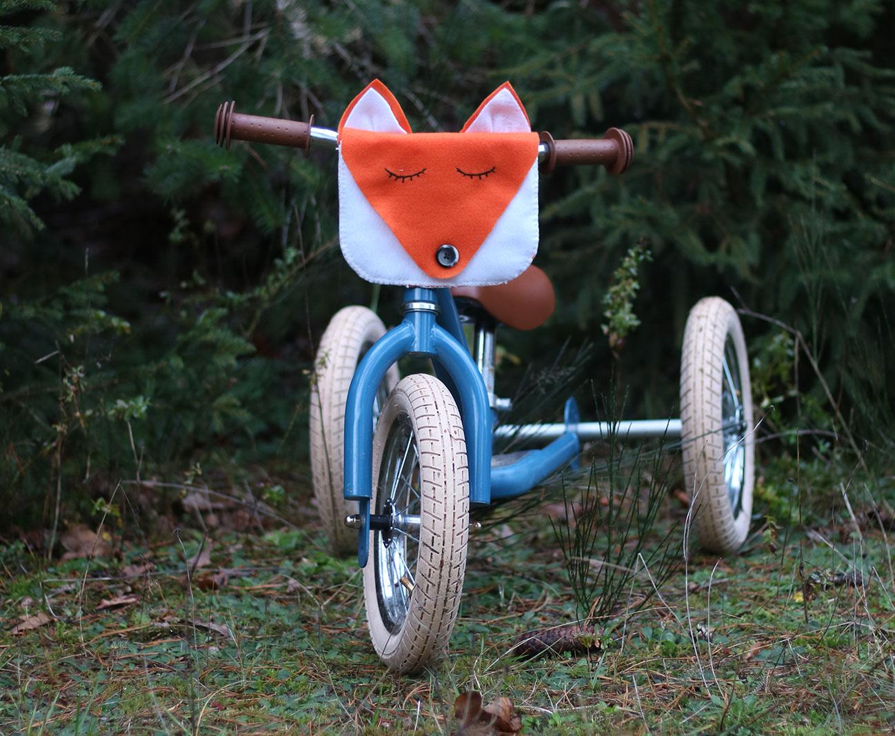 Fahrradtasche nähen Fuchs