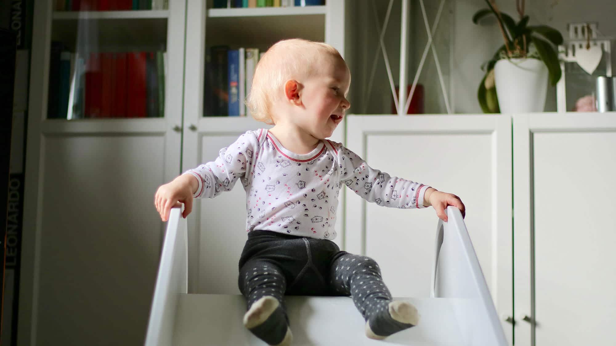 Kinderzimmer-Rutsche \