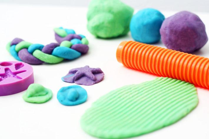 Knete für Kleinkinder selber machen