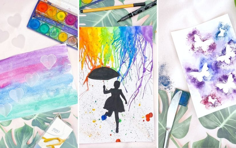 malen mit tusche kreative ideen mit wasserfarbe kinder