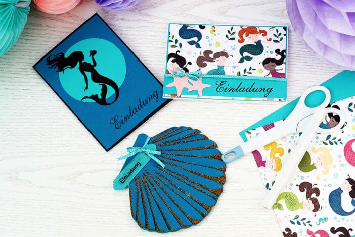 meerjungfrau einladungskarte