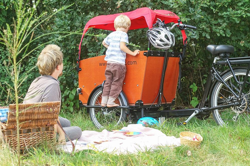 picknick mit kind babboe kind
