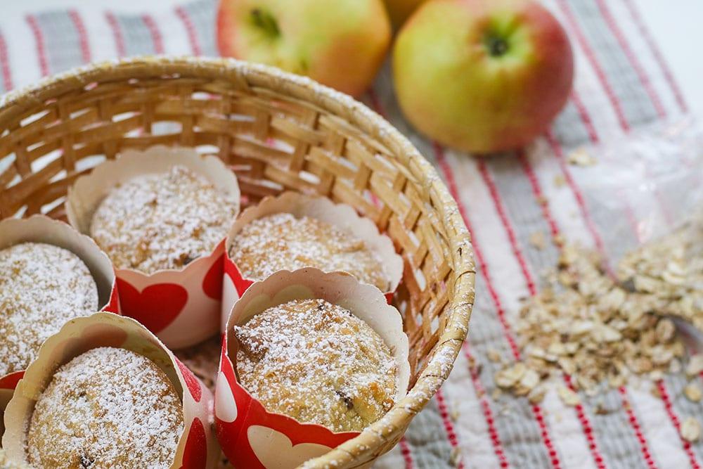 picknick rezept apfel müsli muffins