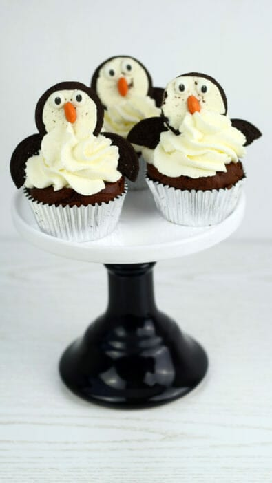 pinguin fledermaus cupcakes mit Oreos