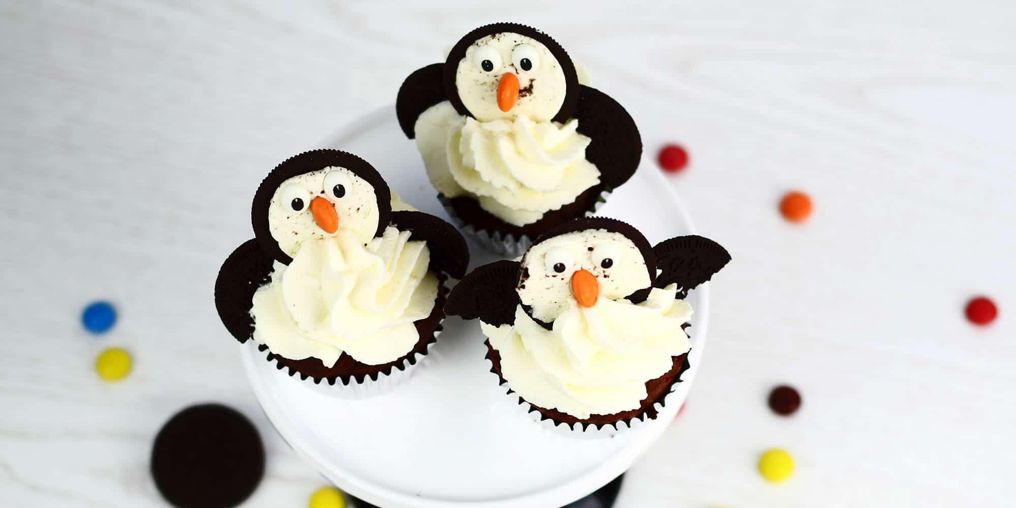 pinguin fledermaus cupcakes