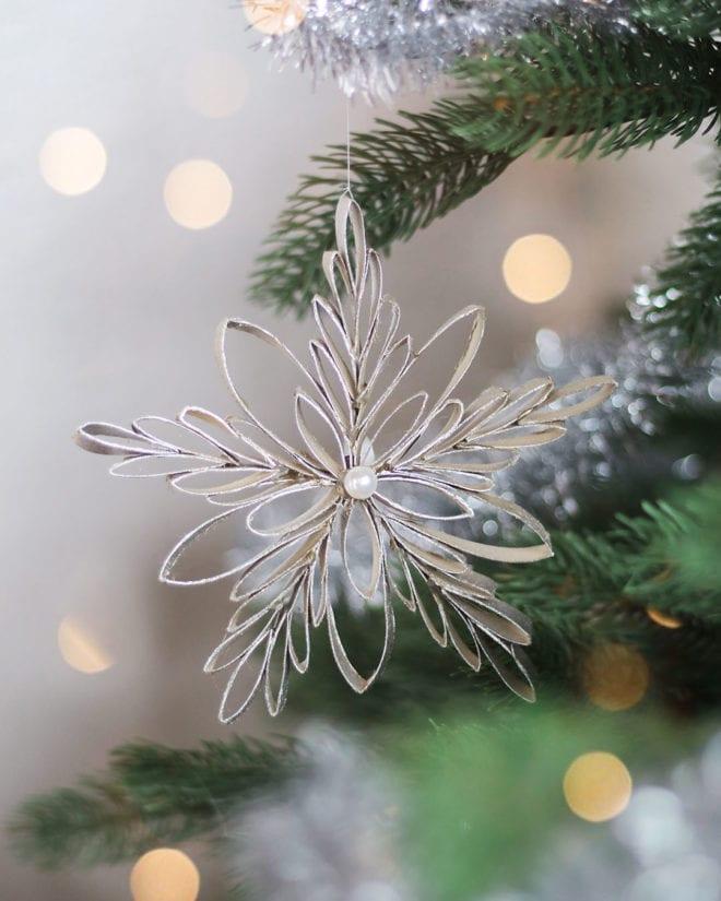 Wunderschöne Schneeflocken Und Sterne Aus Klopapierrollen