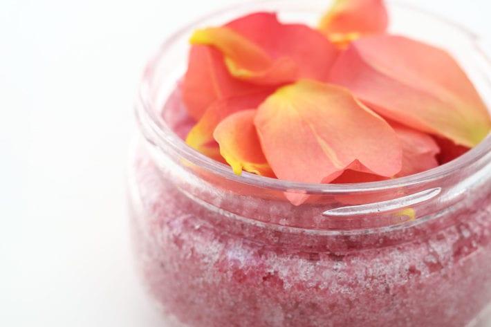 sugar scrub rose babyöl