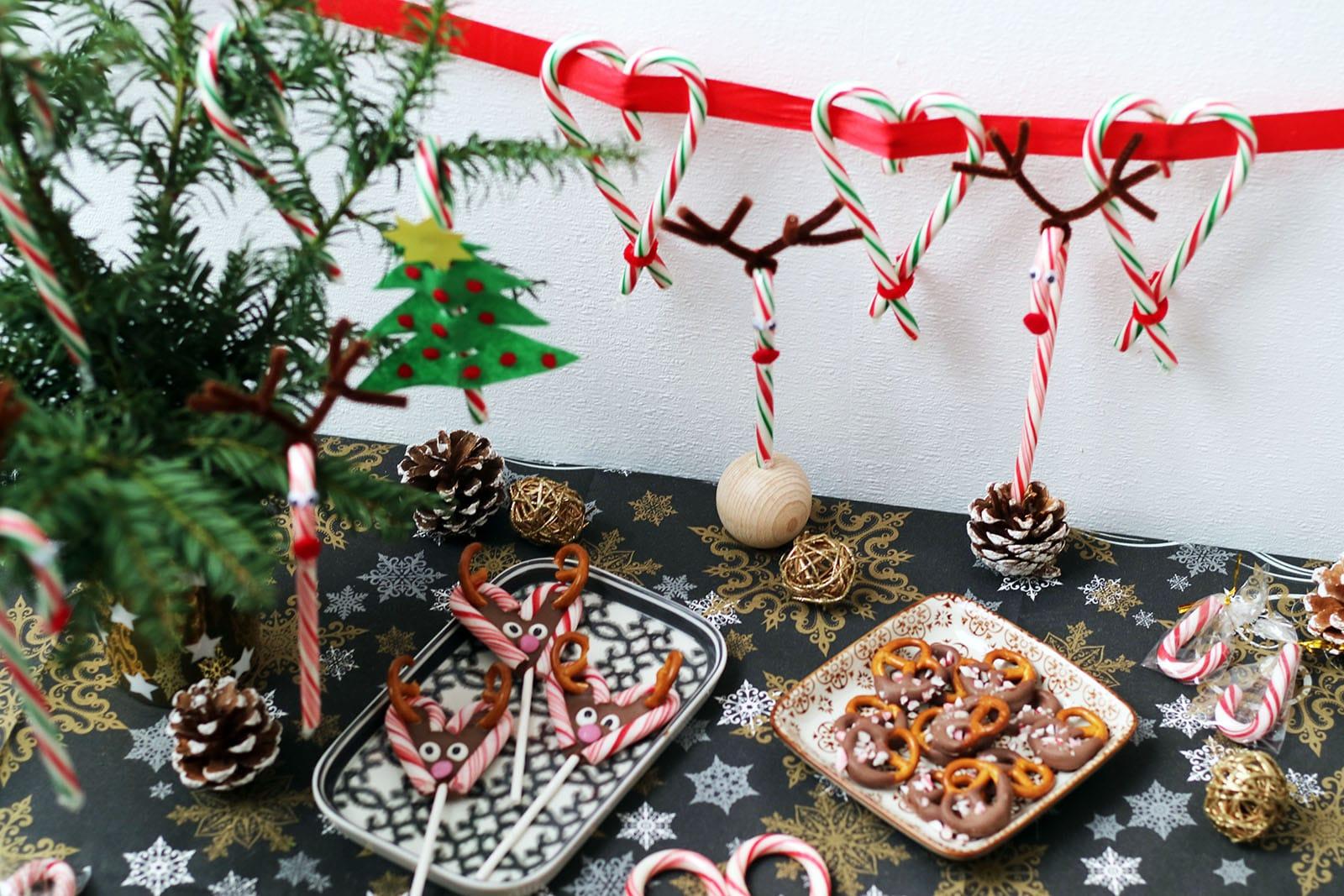 zuckerstangen deko weihnachten